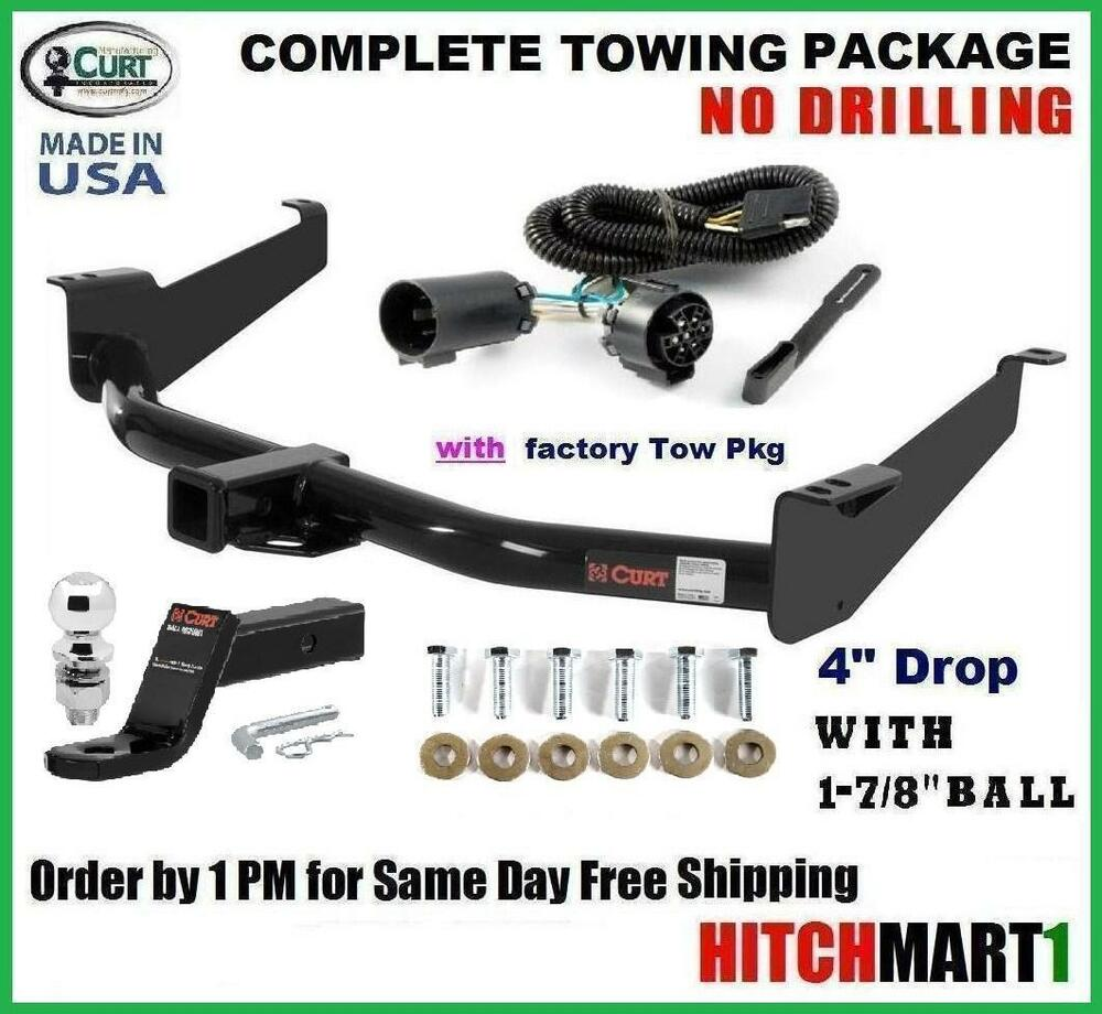 6k curt trailer hitch pkg for 2004 2014 nissan titan w oem tow plug w 1 7 8 ebay. Black Bedroom Furniture Sets. Home Design Ideas