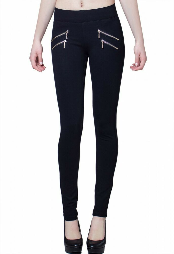 caspar damen stoff leggins leggings hose jeggings schwarz. Black Bedroom Furniture Sets. Home Design Ideas