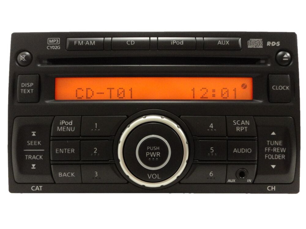 nissan radio stereo receiver am fm cd mp3 ipod player aux 28185 1fc0d cy02g ebay. Black Bedroom Furniture Sets. Home Design Ideas