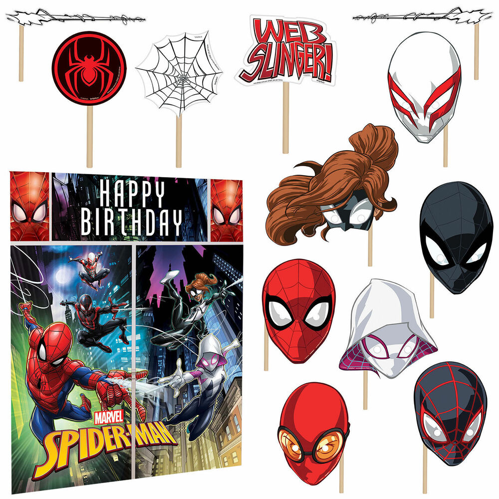 Marvel spider man scene setter wall decoration poster for Poster decoration ideas