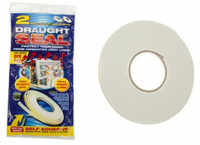 3 x 5m foam draught excluder weather seal strip insulation door window ebay - Weather proofing your home with weather strips and draft stoppers ...