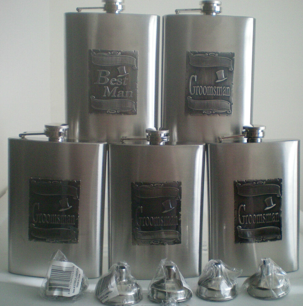 Personalised Wedding Gifts Best Man : Wedding Gift Party Flasks With Engraved Groomsman Best Man & Funnels ...
