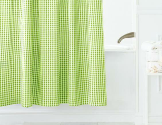 Fabric President 39 S Choice Green White Gingham Checked Shower Curtain Ebay