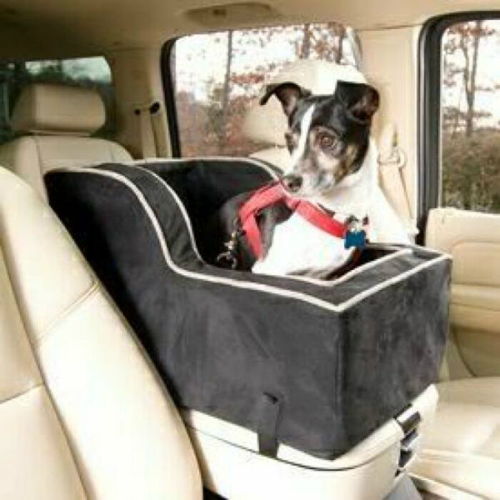lookout truck suv high back console dog pet 20lbs xl snoozer w mono blk hrngbne ebay. Black Bedroom Furniture Sets. Home Design Ideas
