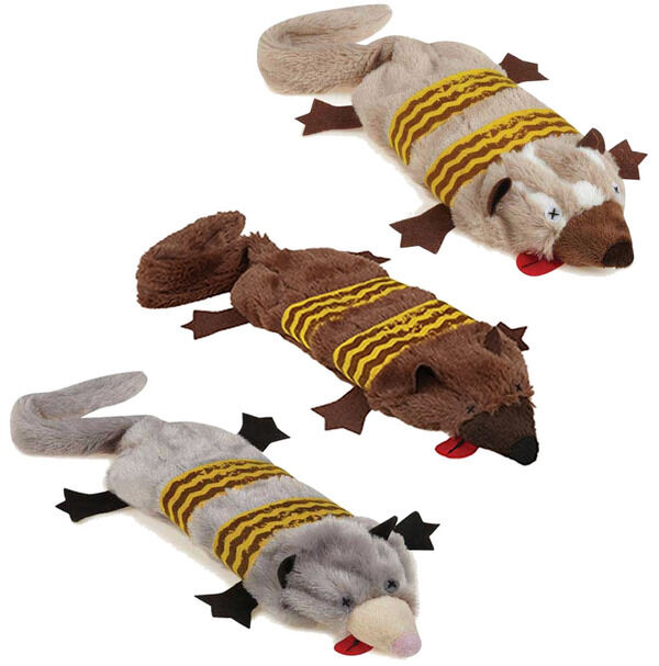 Road Crew Unstuffies Dog Toy Squeakers Plush Stuffing-Free