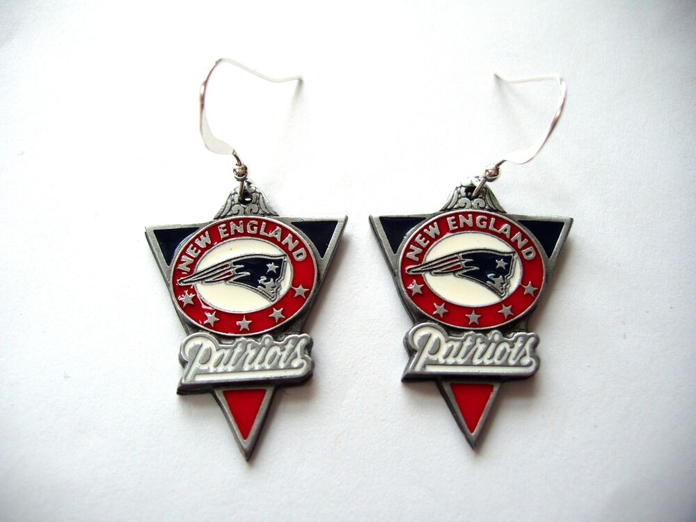 patriots earrings new patriots earrings pewter charm sterling 2198