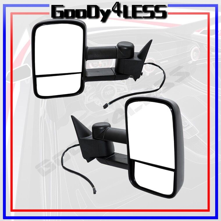 88 98 chevy gmc c k 1500 2500 suburban tahoe yukontowing power mirrors set tow ebay. Black Bedroom Furniture Sets. Home Design Ideas