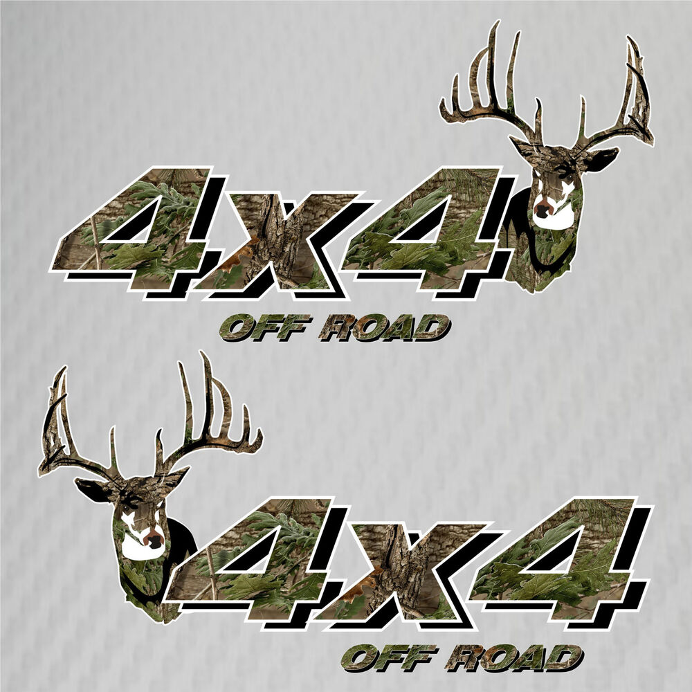 Details about 4x4 truck off road hunting deer camo decals ford chevy gmc dodge toyota