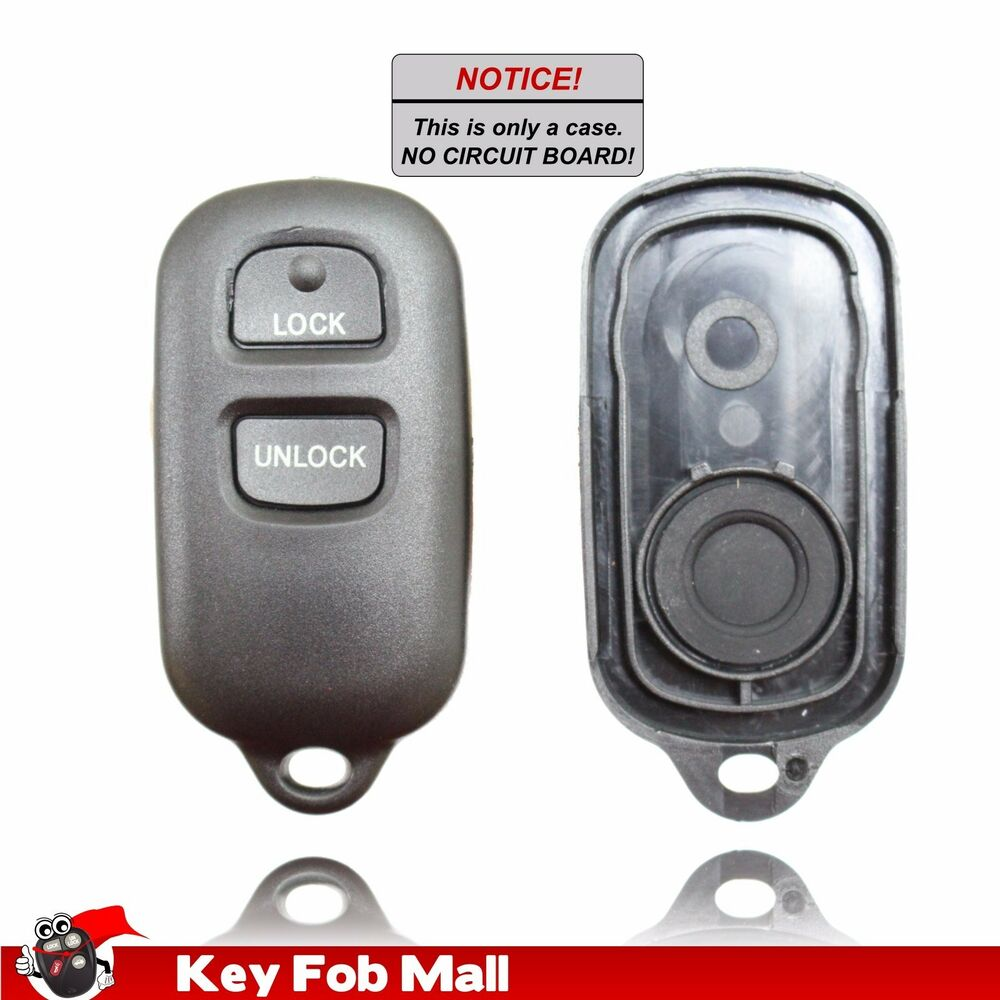 new keyless entry remote key fob case only repair kit for a 1999 toyota camry. Black Bedroom Furniture Sets. Home Design Ideas
