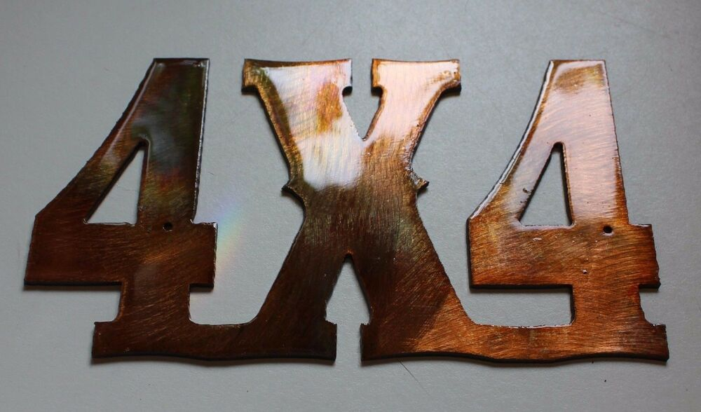 4x4 sign copper bronze plated metal wall decor ebay for Decoration 4x4