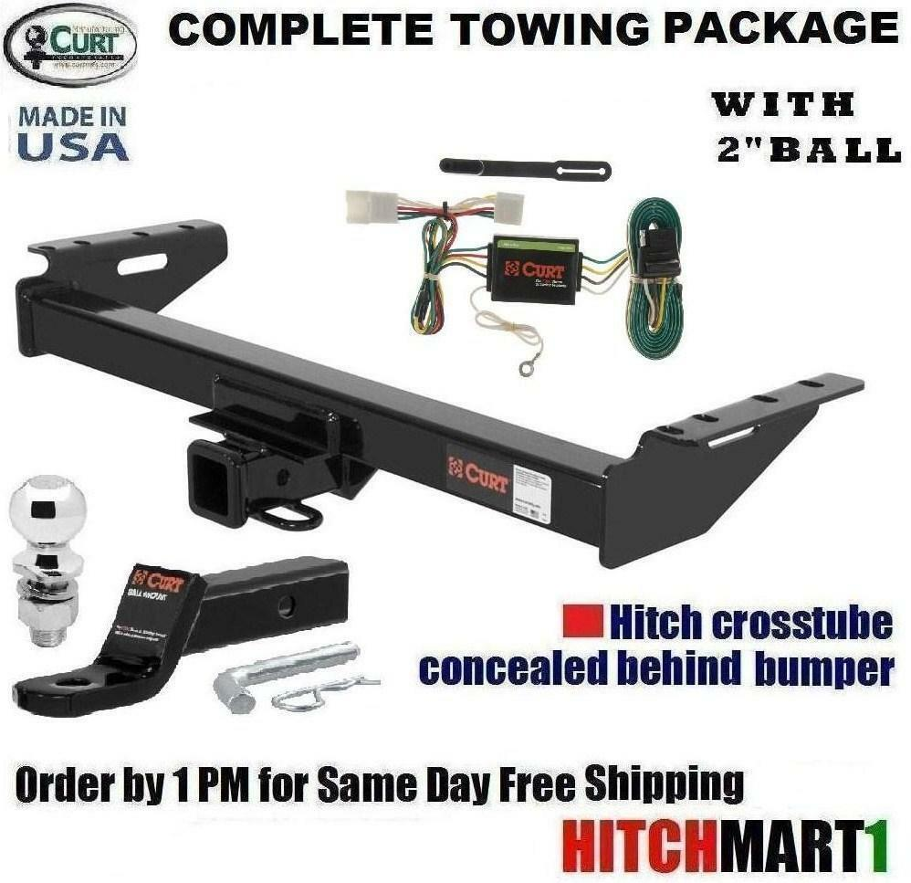 curt trailer hitch package for 1997 2001 jeep cherokee. Black Bedroom Furniture Sets. Home Design Ideas