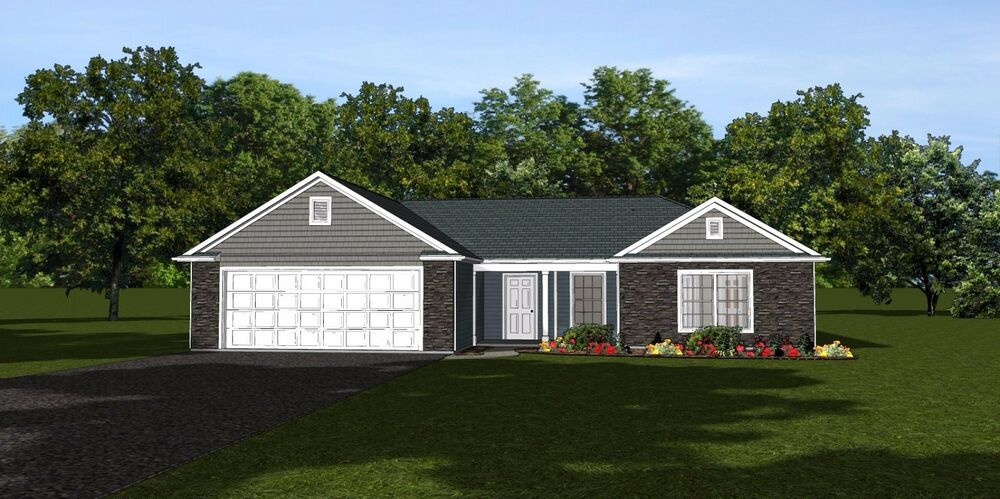 Custom Home House Plan 1 633 SF Ranch Home Blueprints 1336 EBay
