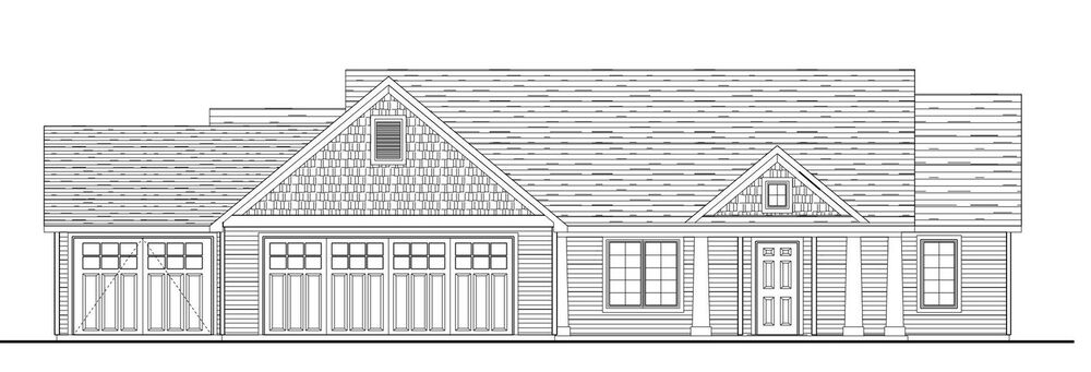 Custom Home House Plan 1 757 SF Ranch 3 Bedroom 2 Bath Blueprint