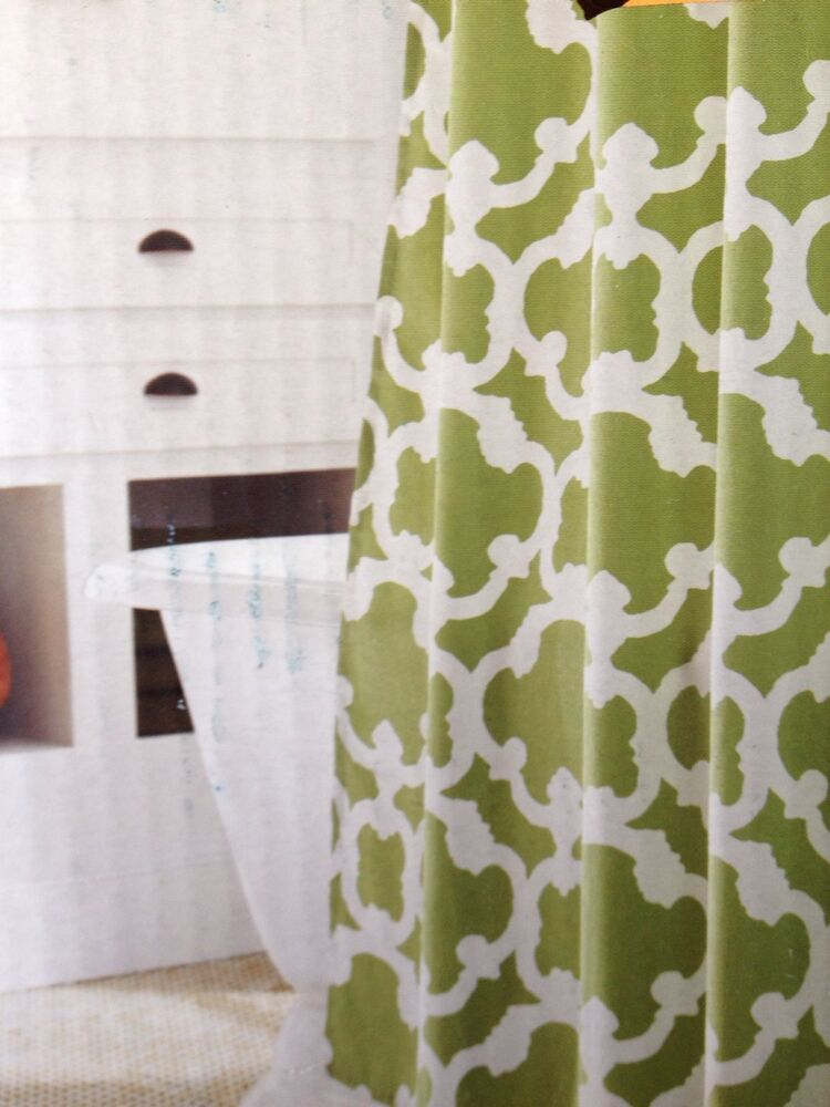 Home Threshold Target Grid Green Lime Shower Curtain 72x72 New | eBay