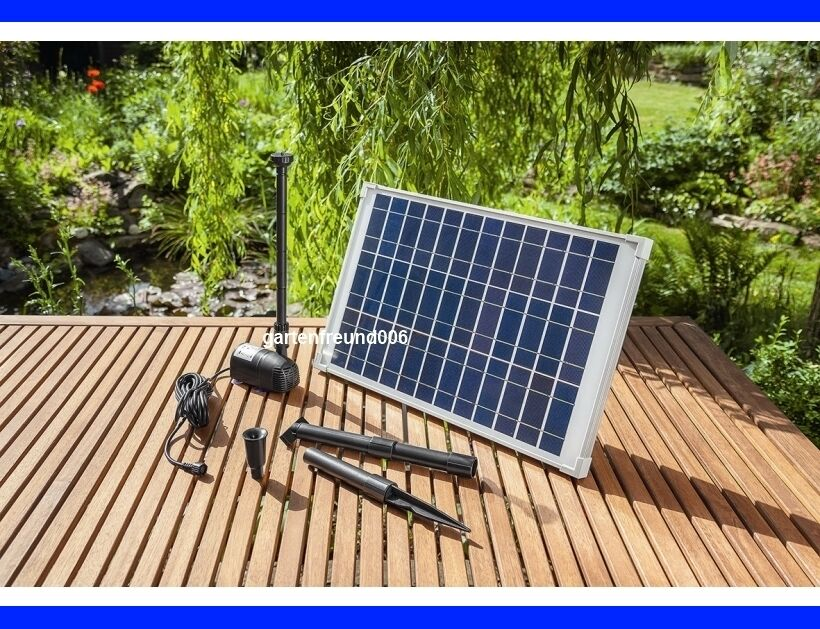 20 watt solarpumpe teichpumpe solar tauchpumpe pumpenset. Black Bedroom Furniture Sets. Home Design Ideas