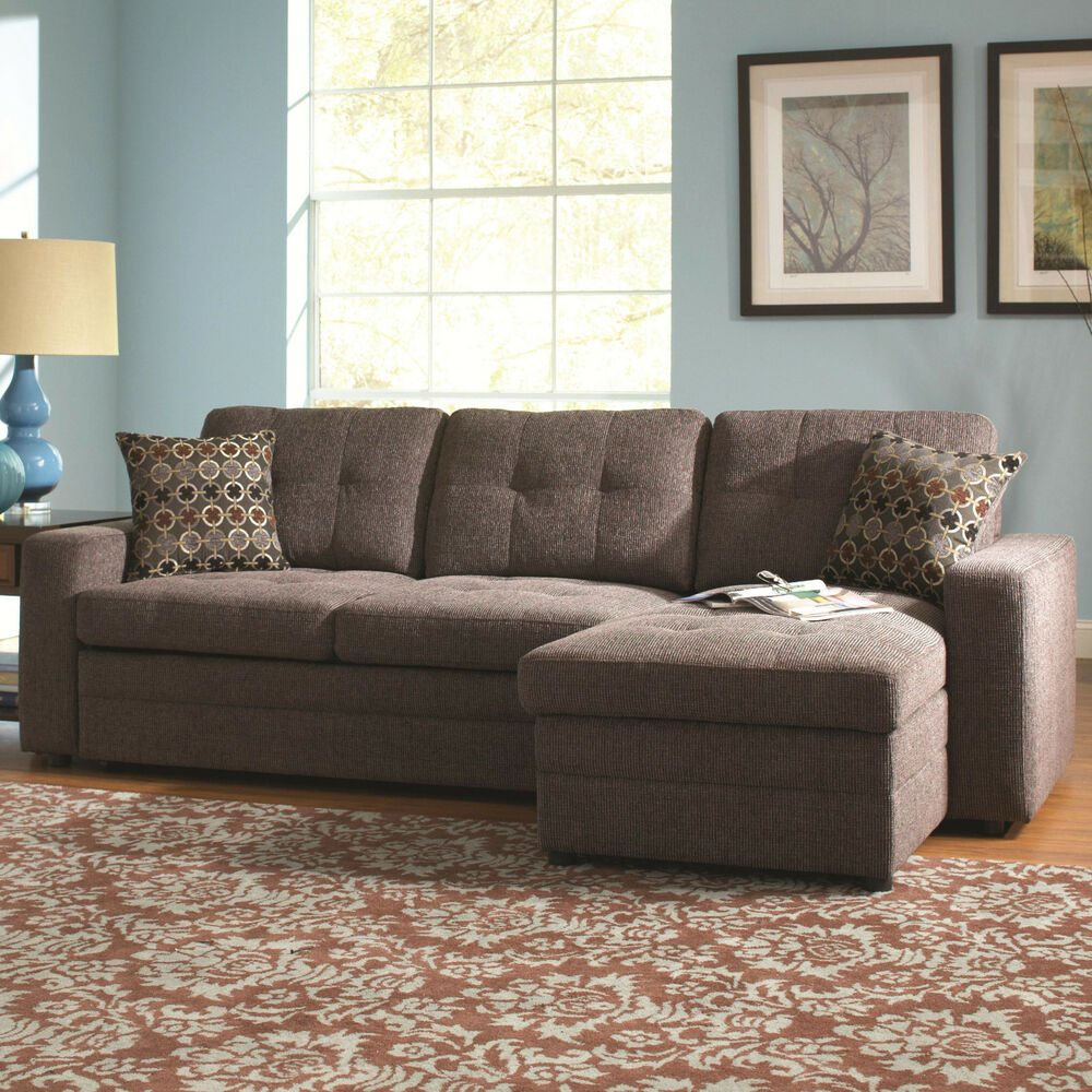 gus sectional sofa with tufts storage and pull out bed charcoal