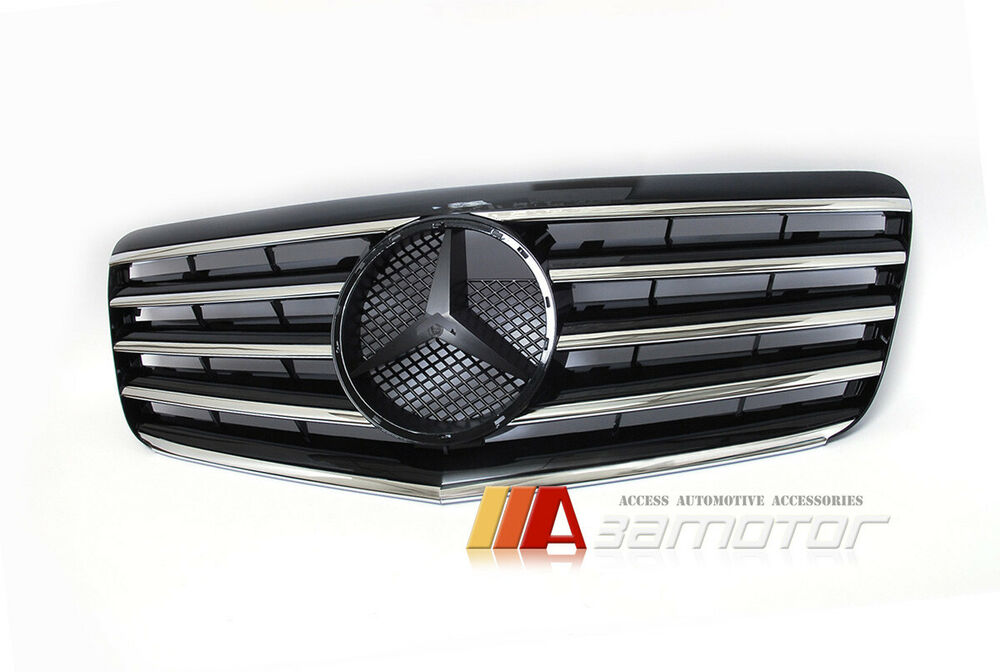 Front black grille grill for 2007 2009 mercedes benz e for Mercedes benz 2007 e350 parts
