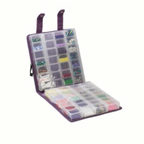 Purple Suede Organizer Craft Mates Ezy Lock Double Snappin