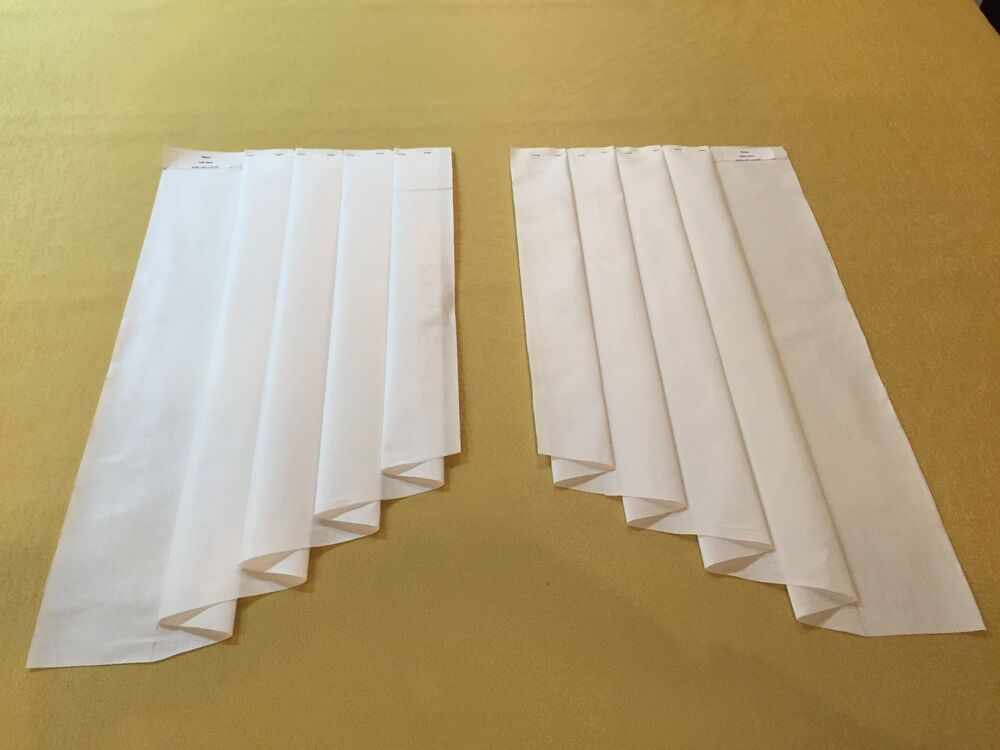 10w X 25l Ultimate Jabot Pattern Shipped Fully Pleated 100 Cotton Video Inst Ebay