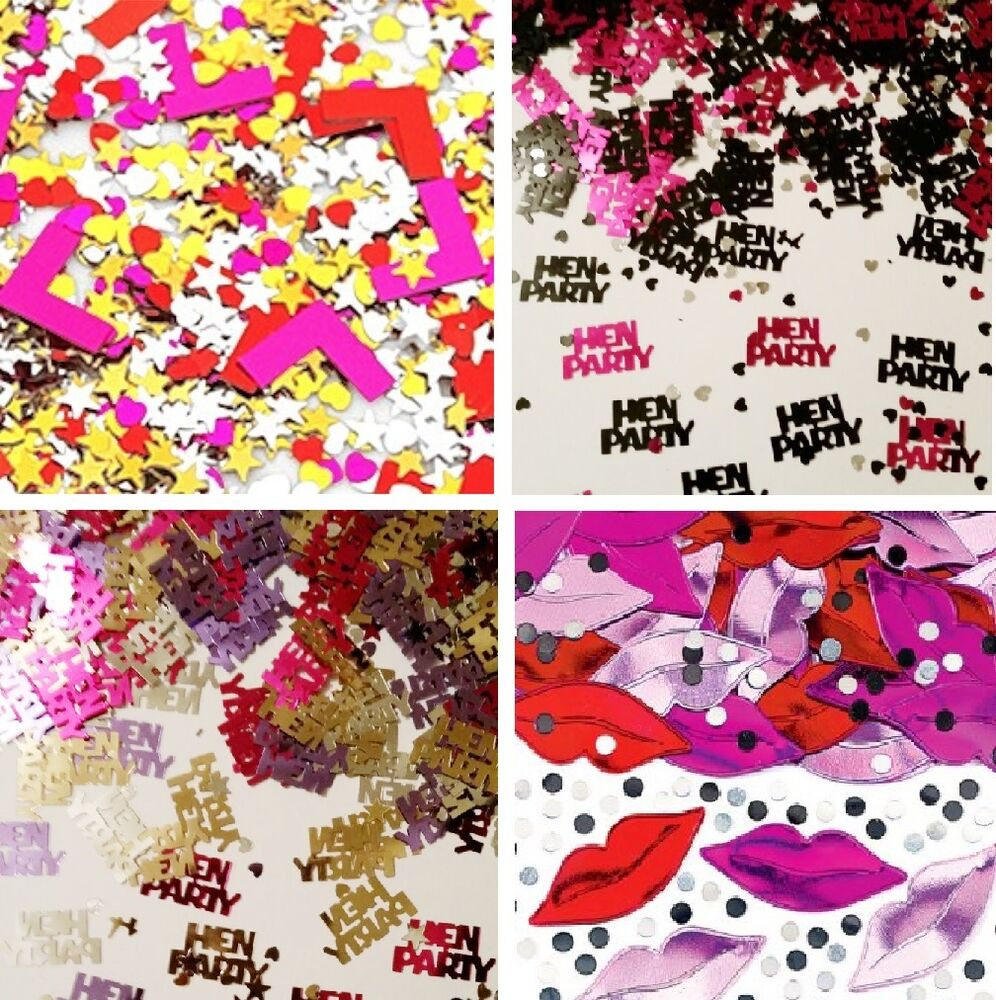 Hen party confetti 14g table decorations 4 designs hen for Hen party at home decorations