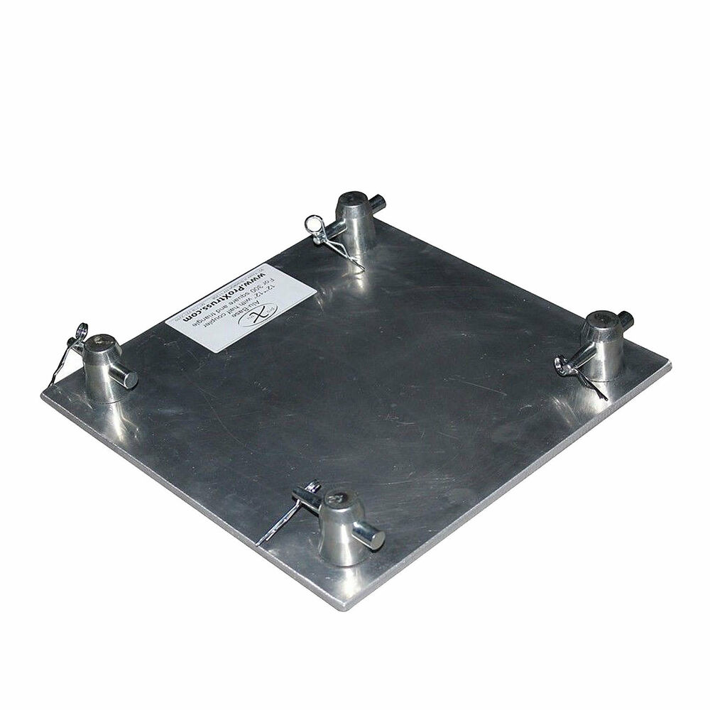 12 square box trussing aluminum top base plate fits f34 global truss sq 4137 ebay. Black Bedroom Furniture Sets. Home Design Ideas