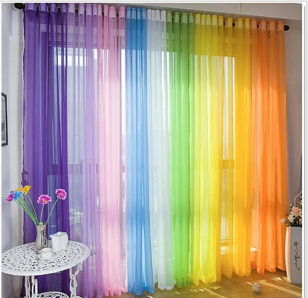 Diy Drapes For Wedding: Voile Sheer Curtain Customise Bedroom Window Home Diy