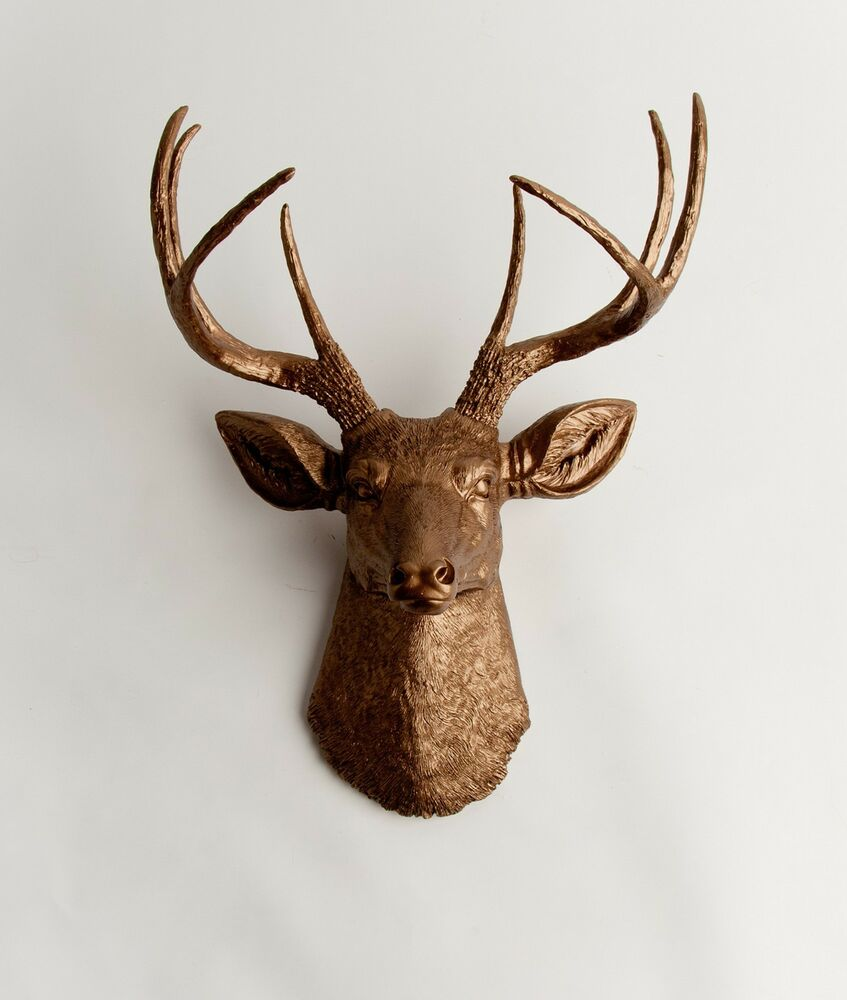 The Bennett Faux Bronze Deer Head Amp Antlers By White