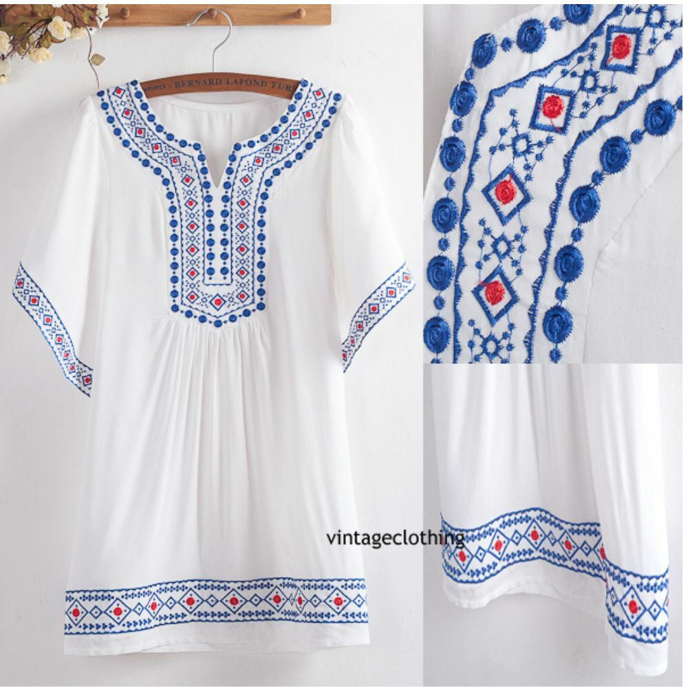 Ethnic mexican hippy boho indian turkish coverup kaftan