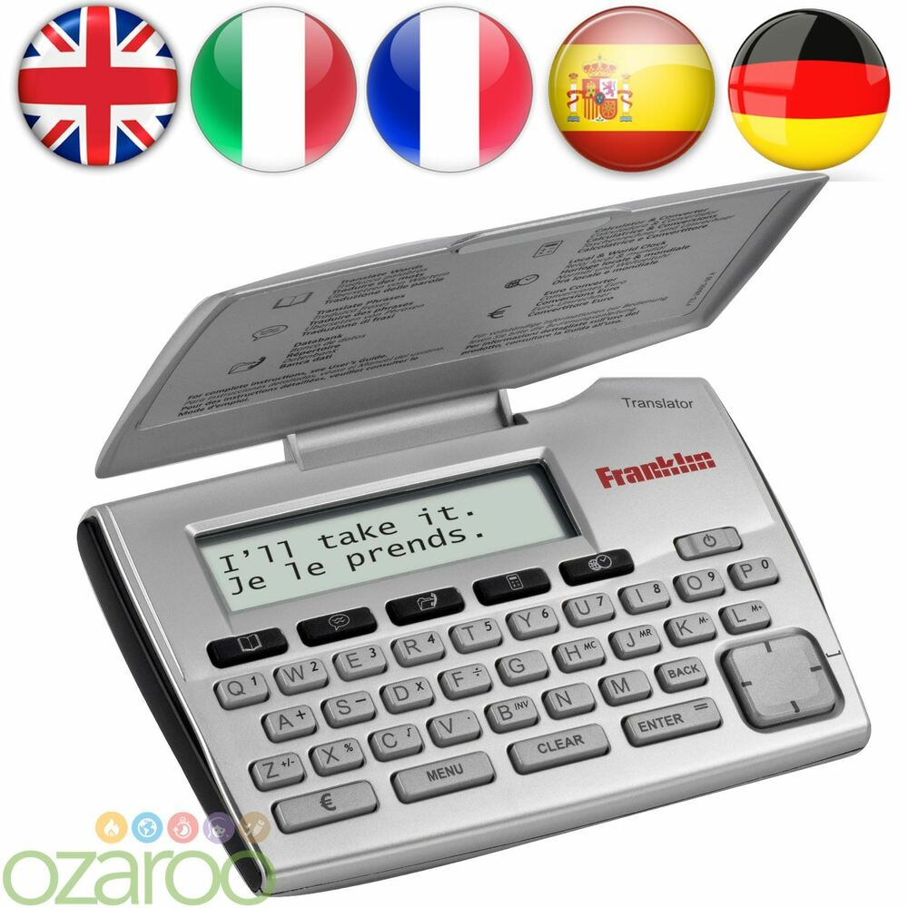 Translator Italian: Franklin 5-Language Electronic Translator English German