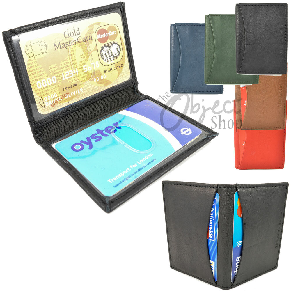 Real Leather Travel Card Oyster Holder Credit Id Wallet
