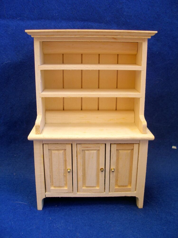 Dollhouse Miniature Kitchen Hutch Welsh Dresser Furniture