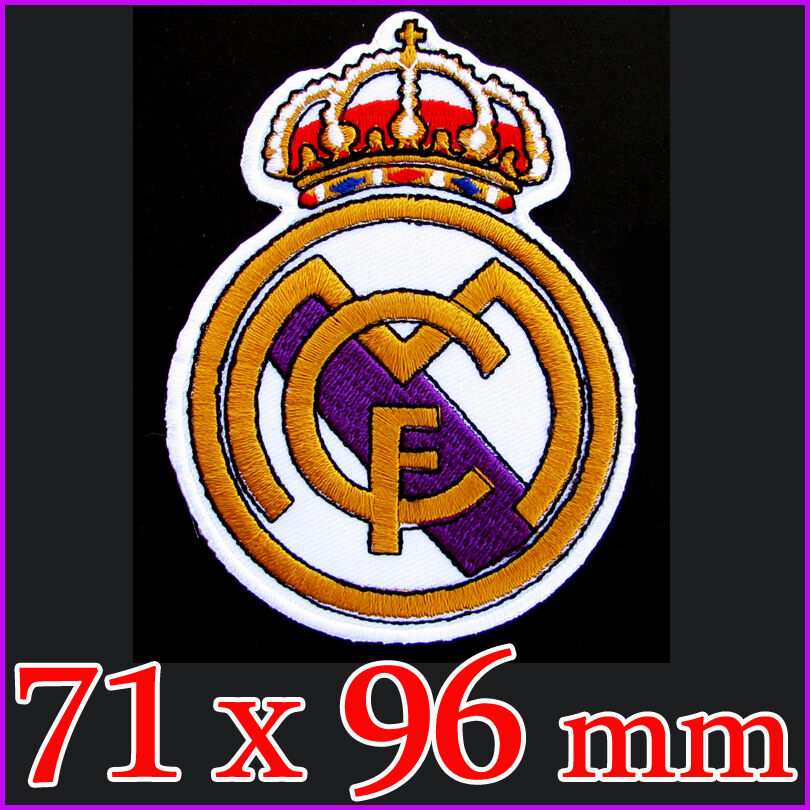 LARGE on Embroidered Iron emblem Patch C.F. Madrid Real