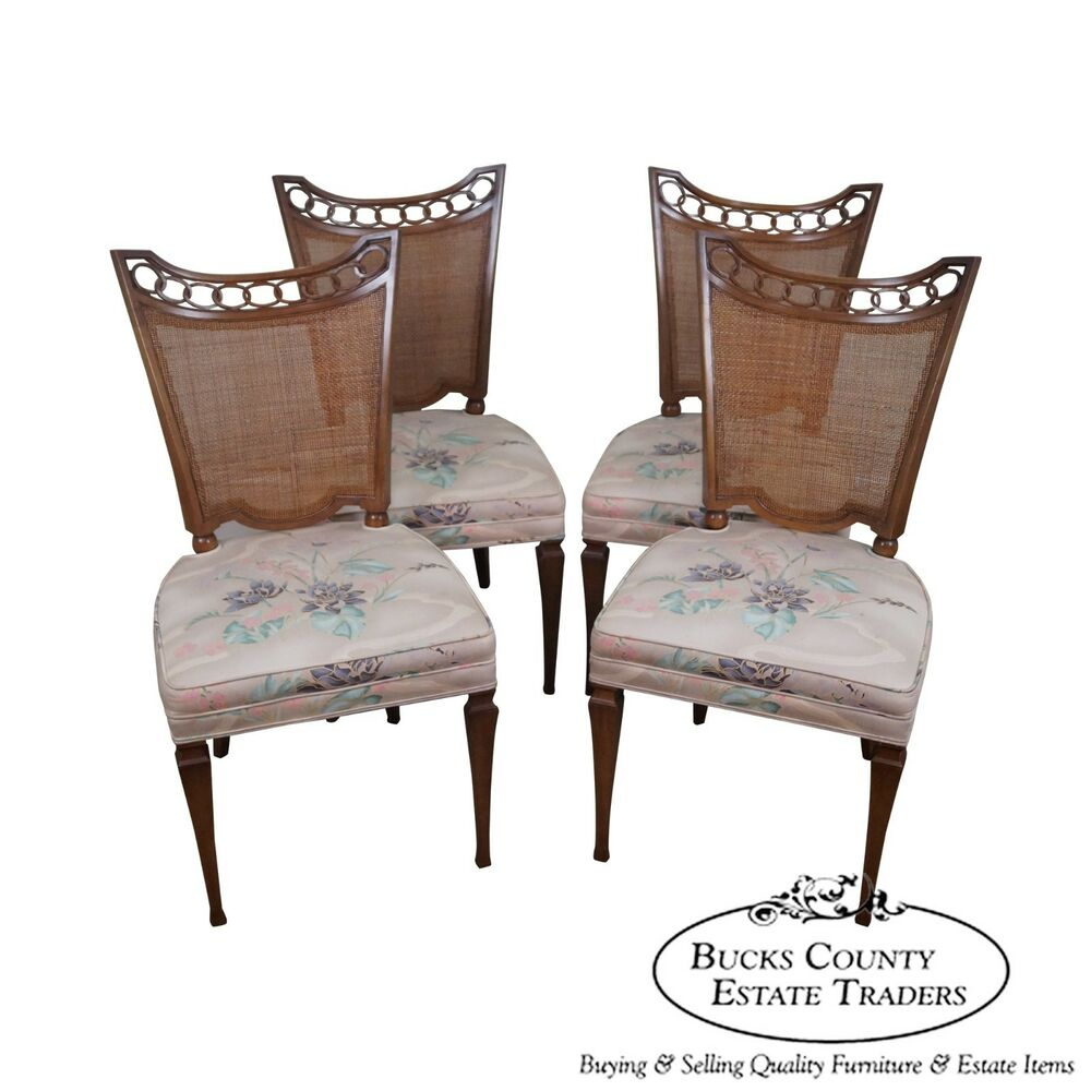 Widdicomb vintage hollywood regency set of 4 side dining for 4 dining room chairs ebay