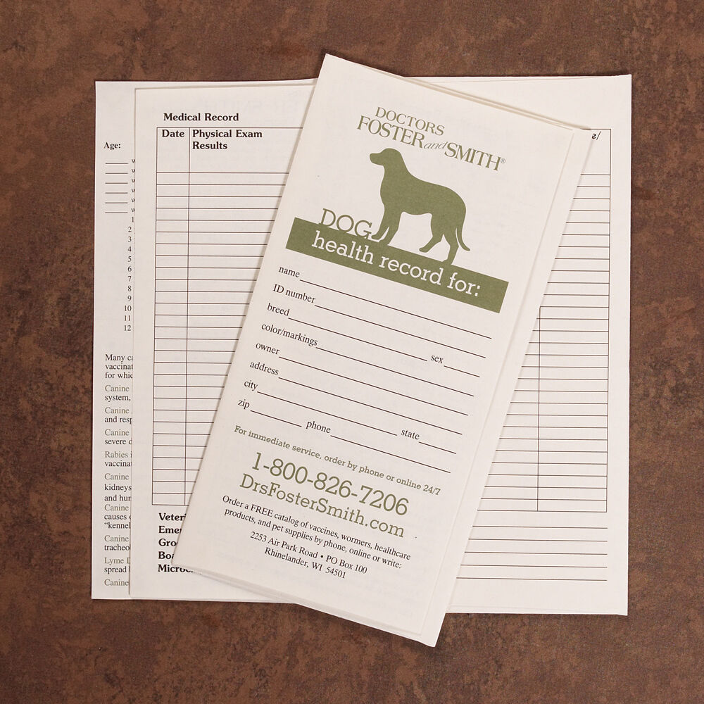 Pet health record book bing images for Dog health record template