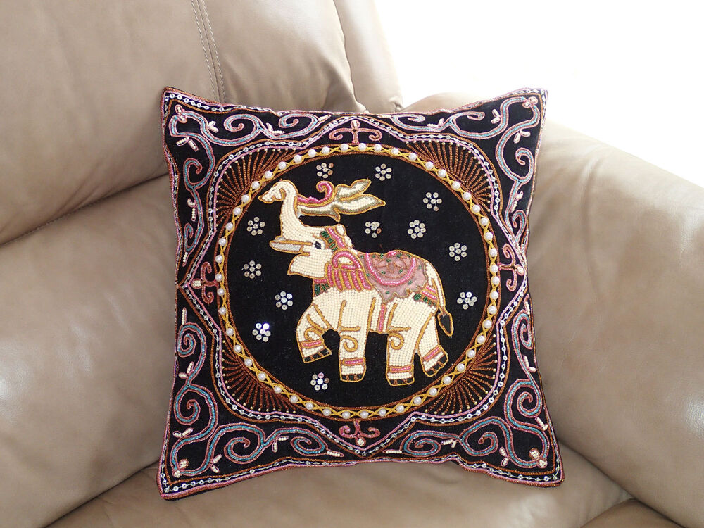 Sequin Elephant Throw Pillow : 17