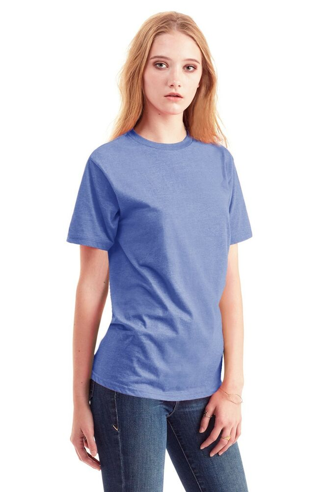 Cross Dyed T Shirts 60 Cotton 40 Polyester Crew Neck
