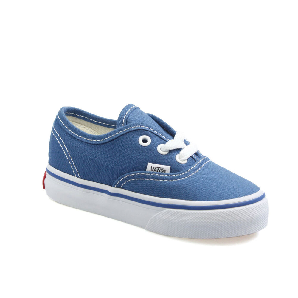 Vans Authentic Navy White Canvas Infant Toddler Baby Boy