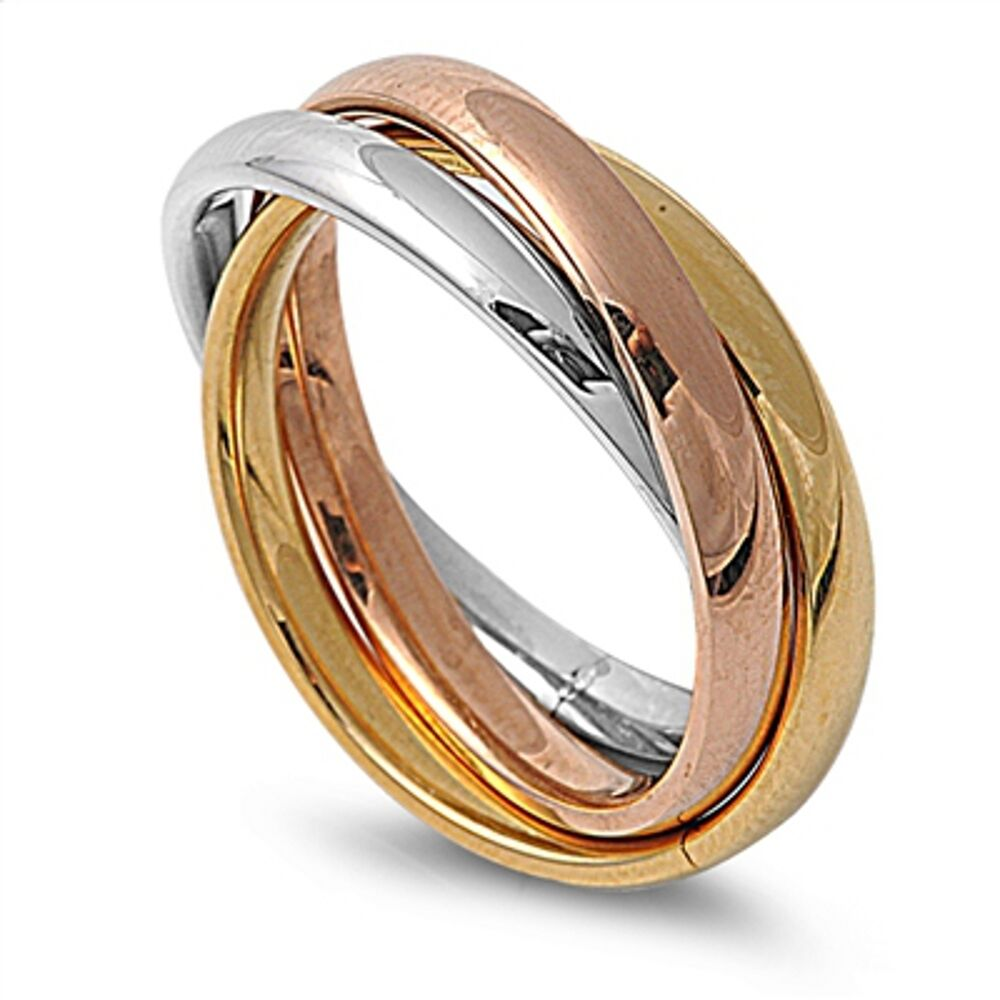 316l stainless steel tricolour russian rolling wedding