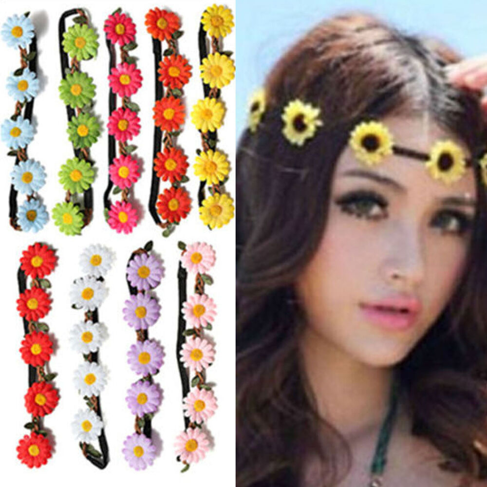 Best FLOWER Headband Crown Headband BOHO HIPPY Headband Floral Daisy Hair Band
