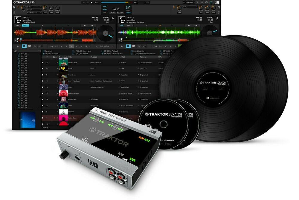 native instruments traktor scratch a6 dvs digital vinyl system traktor pro 3 ebay. Black Bedroom Furniture Sets. Home Design Ideas