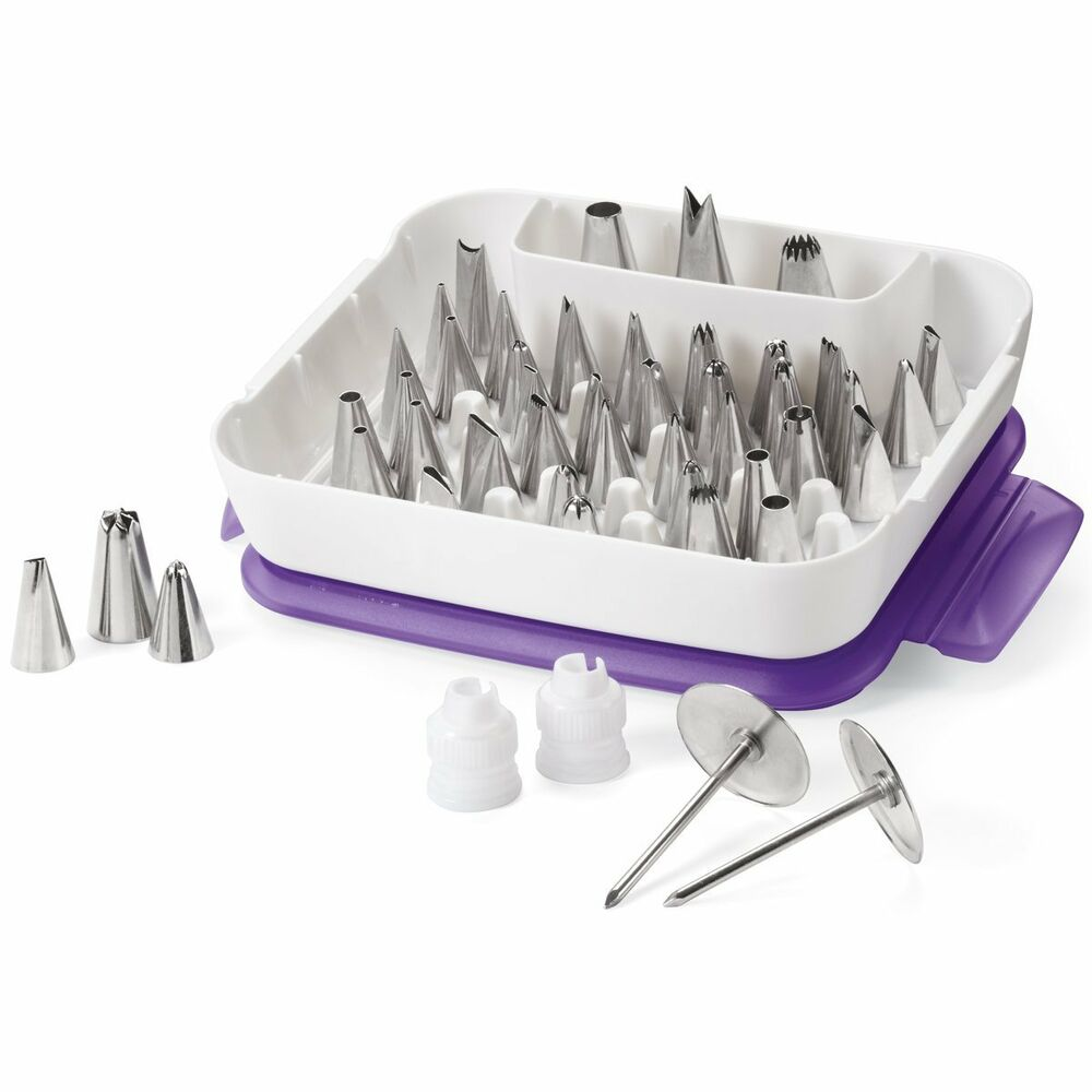 Wilton 55 piece master decorating tip set cake icing kit for Decorating advice