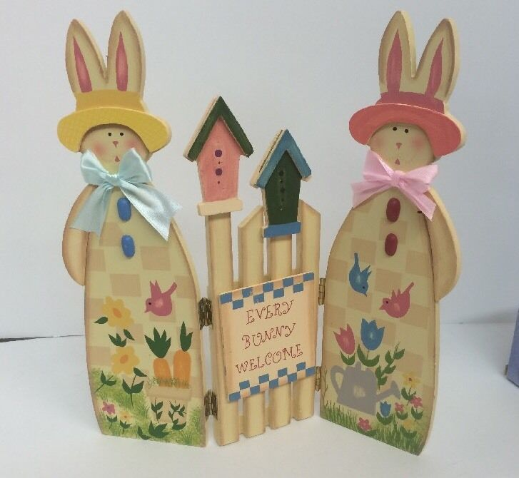Wood easter decoration every bunny welcome home decor for Welcome home decorations