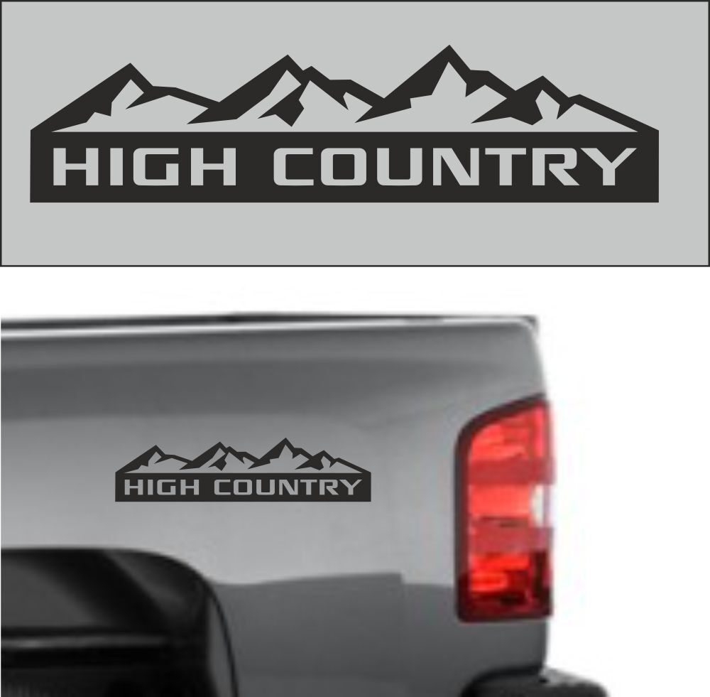Pcs CHEVROLET SILVERADO HIGH COUNTRY TRUCK DECAL STICKER EMBLEM - Chevy decals for trucks