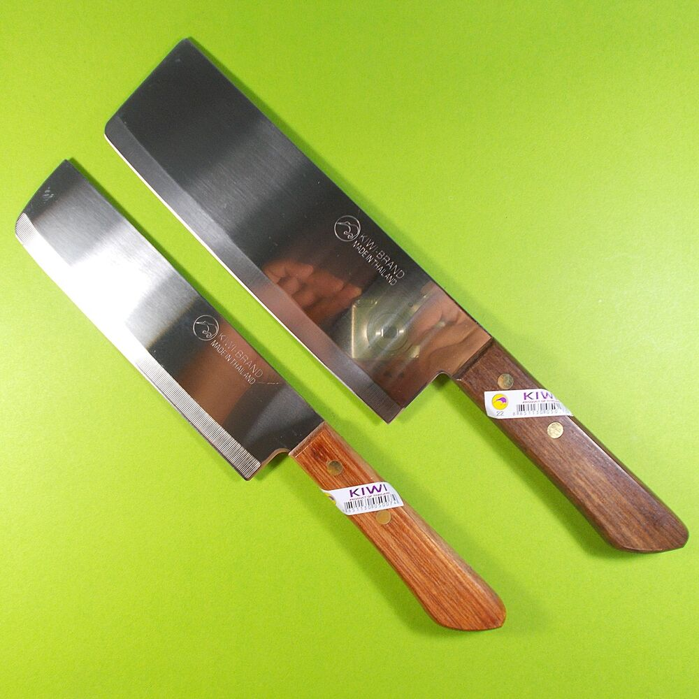 Thai Cook Knife Chef Knives Set 2 Kiwi Wood Handle Kitchen