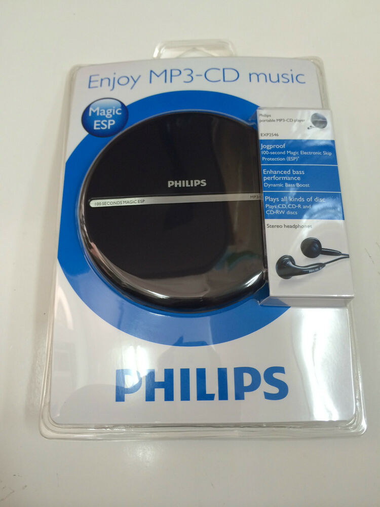Philips exp2546 lcd display portable mp3 cd player discman - Mobile porta cd ...