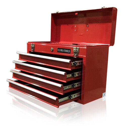 43 us pro tools top tool box chest cabinet mobile steel for Top recambios profesional
