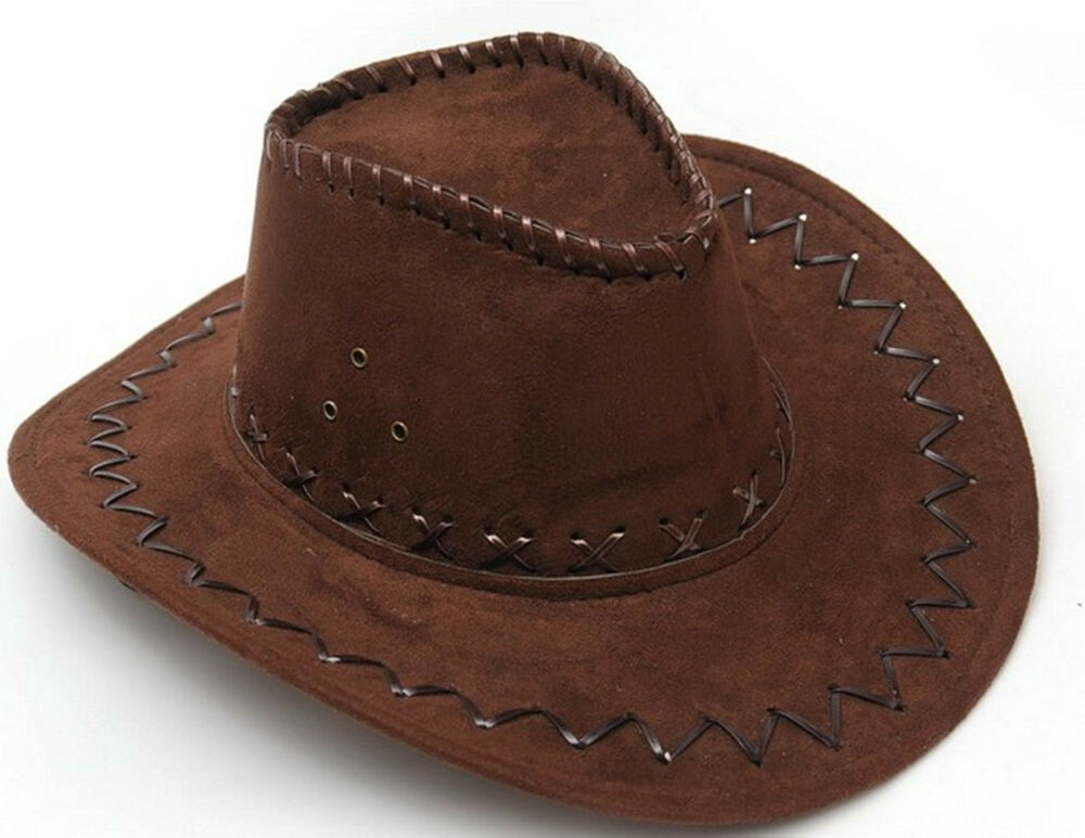 Brown Unisex Cowboy Hat Mens Hats Ladies Caps Womens ...