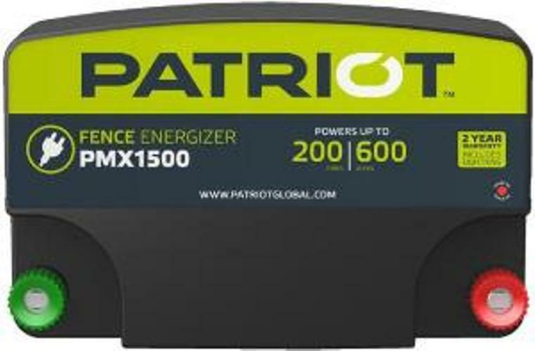 Patriot Pmx1500 Electric Fence Charger Energizer 13 Joule