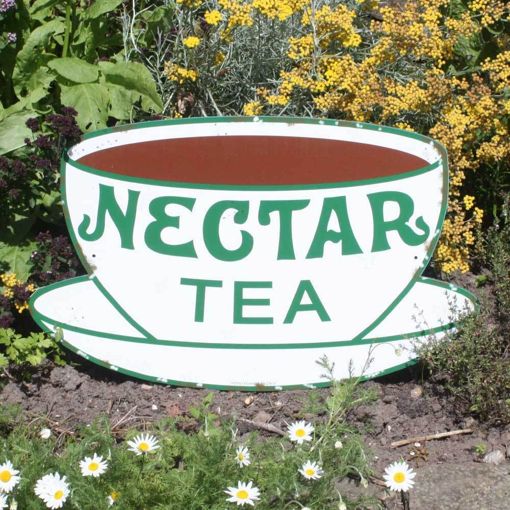 Retro Kitchen Signs: Nectar Tea Vintage Style Advertising Sign, Old Rusty Sign