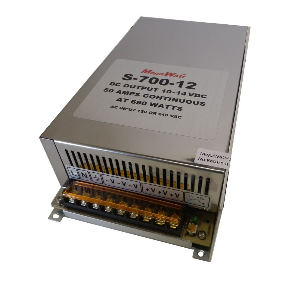50 Amp Power Supply Stack To 100 Amps Or More 9 14vdc Ham Cb Radio Powerfull 12 V 10 Ampere Megawatt 703510623126 Ebay